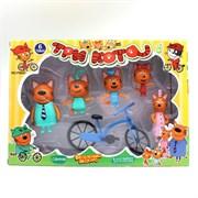 Три Кота Счастливая Семья с Велосипедом (арт. 8110)